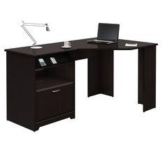 Amazon.com: BUSH FURNITURE Cabot Collection:60-inch Corner Computer Desk, Espresso Oak: Furniture & Decor