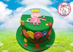 Tarta Pepa Pig. Horneando Ideas. Birthday Cake, Cake Ideas, Desserts, Food, Creativity, Tarts, Sons, Meet, Chef Recipes