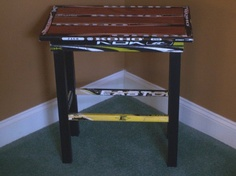 Hockey Stick Side Table