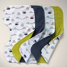 Contoured Burp Cloths by Michelle Engel Bencsko from Make It Sew Projects for Cloud9 Fabrics