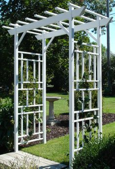 Trellis for the roses to climb. Or maybe jasmine.