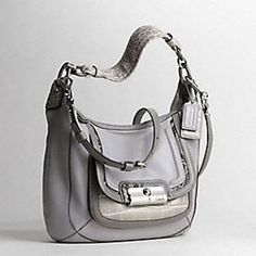 Coach Kristin Leather Spectator Shoulder Hobo Bag Purse Tote 18287 Grey #Coach #Satchel