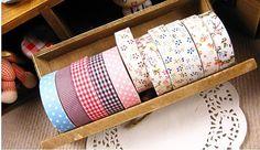 10 Pcs Rural Wind Beautiful Multi-Function Adornment Masking Tape Washi Tape