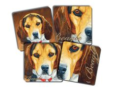 Beagle Coaster Set of 4 perfect gift for by AmericanMemoryPrints
