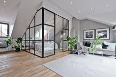 30 Handsome Industrial Glass Wall Home