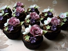 Floral Cupcakes (by Leslea Matsis)