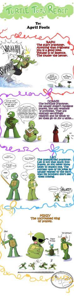 Turtle Tots React - April Fools by Myrling.deviantart.com on @DeviantArt