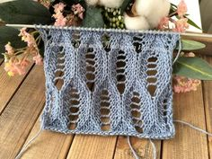 Openwork knit pattern for summer products. Knitting Machine Patterns, Knitting Stiches, Easy Knitting Patterns, Knitting Blogs, Knitting Charts, Lace Knitting, Crochet Patterns, Knitting Tutorials, Crochet Motif