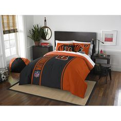 Use this Exclusive coupon code: PINFIVE to receive an additional 5% off the Cincinnati Bengals NFL Full Embroidered Comforter Set at SportsFansPlus.com