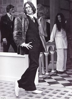 John at the opening of the second Beatles shop 'Apple Tailoring' in Chelsea, London, 23rd May 1968
