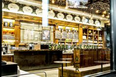 Starbucks' New Store In New Orleans Is Designed Like An Old-Fashioned Apothecary -  CRAZY. Too much, but cool.