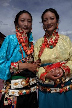 The traditional Tibetan clothing
