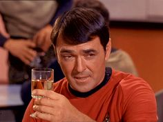 "Drinks alot, can fix anything, survives ""red-shirt"" curse ""You want to rephrase lad?"" just before starting a barfight"