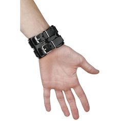 Double Leather Strap Bracelet  Lederen armband  »Double Leather Strap Bracelet« | Nu te koop bij Large | Meer Basics  Armbanden online beschikbaar - De beste prijs!