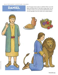 Use these cut-out figures to act out the story of Daniel in the lion's den!
