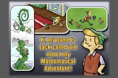 Jack and the Beanstalk- a Mathematical Adventure is an awesome Math learning app which provides kids with a unique and fun way to learn and practice Mathematics. It is a story telling game which follows the story of Jack in the Beanstalk, however, within added math twists.