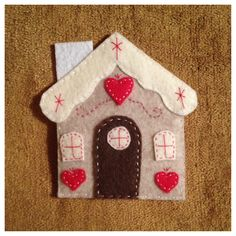Felt gingerbread house ornament for kids felt christmas tree