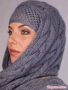 Девочки, посмотрите какую необычность на просторах инета увидела. Написано, что шарф-капюшон и повязка.