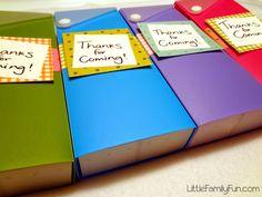 Little Family Fun: Pencil Box Party Favors
