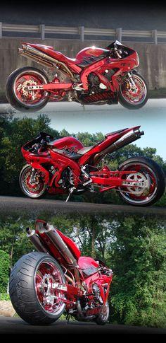 McCoy Motorsports Yamaha R1 Custom Fusion Showbike Yamaha R1, Custom Sport Bikes, Reverse Trike, Moto Bike, Sportbikes, Motorcycle Design, Street Bikes, Bike Life, Hot Cars