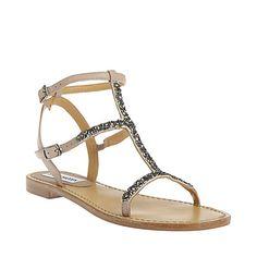 POPPIN BLUSH women's sandal flat ankle strap - Steve Madden
