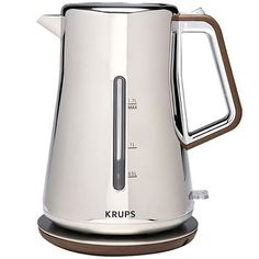 We love the beautiful design of this electric kettle from Krups.