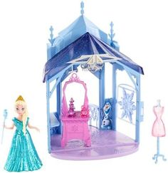 Disney Frozen MagiClip Flip 'N Switch Castle and Elsa Doll
