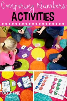 These comparing numbers activities, anchor chart, and videos will help your students master greater than and less than. Grab a FREE game for math centers. 1st Grade Math Games, Kindergarten Math Activities, Numbers Kindergarten, First Grade Activities, Math Numbers, Kindergarten Activities, Teaching Math, Math Class, Kindergarten Classroom