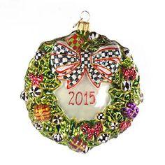 Glass Ornament - 2015 Wreath