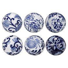 Decorative Balls For Bowls Australia Decorative Porcelain Ballsset Of 6  Rosettes Porcelain And Delft