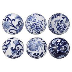 Cheap Decorative Balls Decorative Porcelain Ballsset Of 6  Rosettes Porcelain And Delft