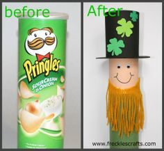 Pringles Can Leprechaun Craft