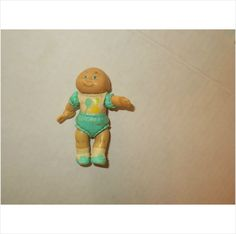 CABBAGE PATCH KID! PVC FIGURE!!!! BABY TOPNOT LIGHT BLUE OUTFIT!!! GIRL!