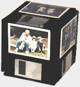 Recycled floppy disc photo cube..... From Suzi Homefaker