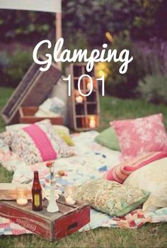 Almofadas ~♥~♥~ Glamping. This sounds amazing!