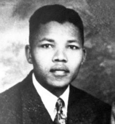 A picture of young Nelson Mandela  taken in the 40's.
