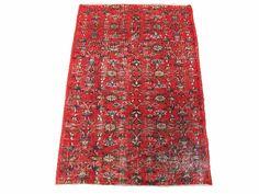 www.aksaraycarpet.com #carpet #rug #vintage #handmade #handwoven #etsy  Turkish Vintage Rug With Allover Design    56 x 40