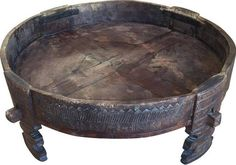 round low moroccan table wood