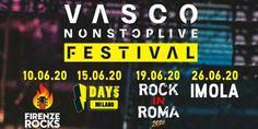 Annunciati 4 concerti di VASCO ROSSI nei 4 festival rock più importanti dell'estate. Siete cari... Festival, Estate, Broadway Shows, Live, Broadway Plays