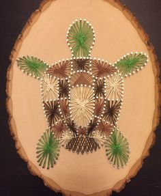 Turtle String Art by BWallStringArt on Etsy https://www.etsy.com/listing/261273783/turtle-string-art