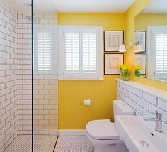 Cheerful (instead of tranquil). Maybe?  I do like the subway tile.