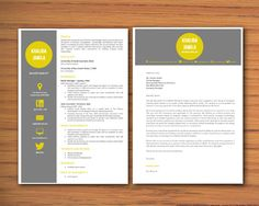 Modern Microsoft Word Resume and Cover Letter Template - Khalida Jamila 01 - Resume Templates Word, Microsoft Word CV Templates