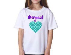 Girls Mermaid at Heart  Shirt Disney Little Mermaid Ariel by RKCreativeImpression