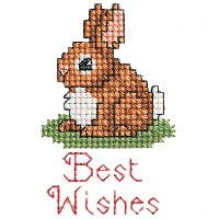 Best Wishes Bunny-cross stitch