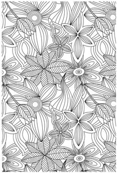 flowers colouring page #adult colouring