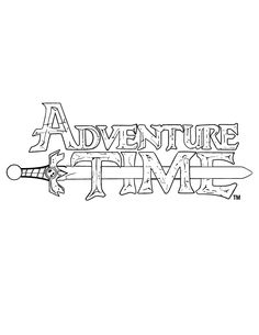 adventure time logo coloring pages printable and coloring book to print for free. Find more coloring pages online for kids and adults of adventure time logo coloring pages to print. Adventure Time Base, Adventure Time Coloring Pages, Adventure Time Drawings, Adventure Time Funny, Marshall Lee Adventure Time, Adventure Time Parties, Adventure Time Tattoo, Family Coloring Pages, Adventure Time Characters