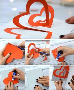 Wyskakująca kartka walentynkowa - Oryginalne kartki walentynkowe - 14 pomysłów DIY