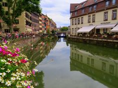 Strolling along the canals in beautiful towns