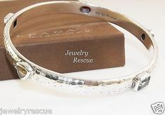 Silpada-Gemstone-Bangle-Bracelet-Hammered-925-Sterling-Silver-B1698-RARE-d