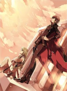 The whole world in their grasp | Code Geass | Lelouch and C.C